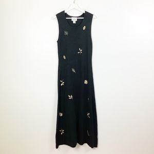 Christopher & Banks Knit Leaves Dress Size Small